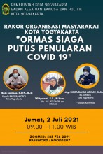 RAKOR ORGANISASI MASYARAKAT KOTA YOGYAKARTA (LIVE ZOOM)